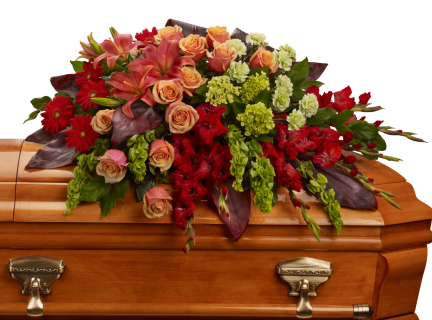 A Fond Farewell Casket Spray