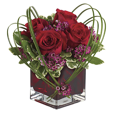 Sweet Thoughts Bouquet with Red Roses